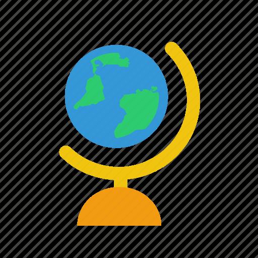 globe, school icon