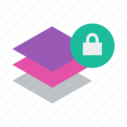 layer, layers, lock icon