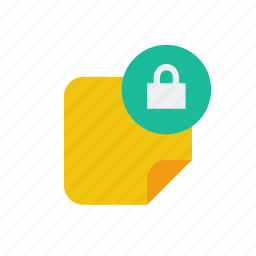 lock, note icon