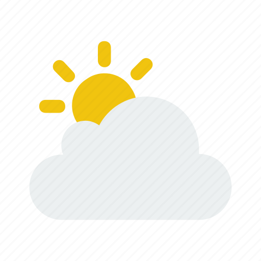 cloudy, nature, partly, weather icon