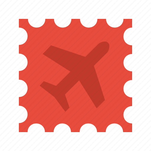 delivery, international, order, plane, postage, shipping, stamp icon