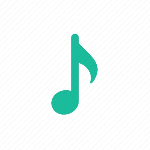 music, note, quaver, sound icon