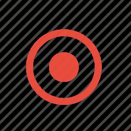 controls, player, record icon