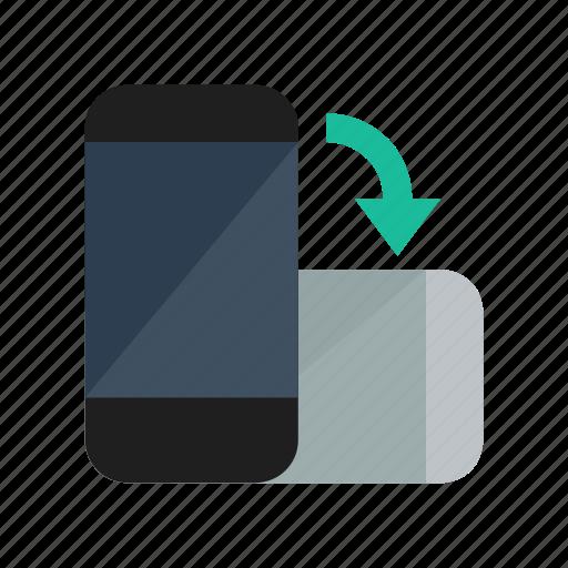 smartphone, tilt icon