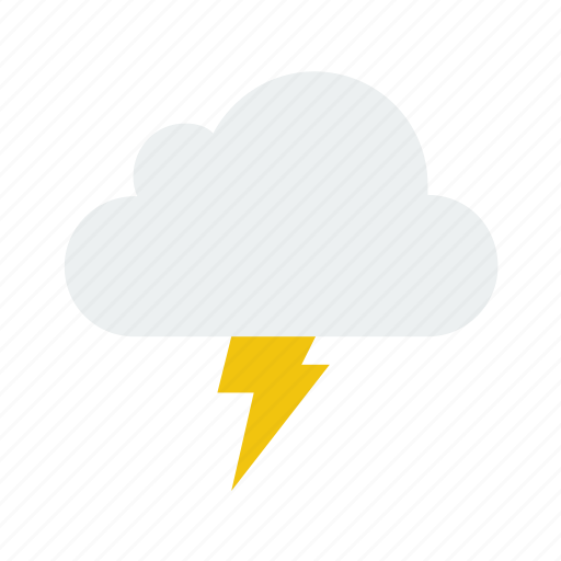 cloud, lightning, nature, storm, weather icon