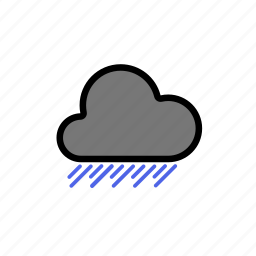 cloud, clouds, cloudy, forecast, heavy, lightning, rain, rainy, storm, weather icon