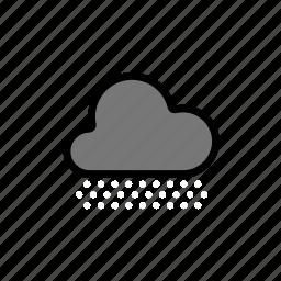 cloud, clouds, cloudy, dark, dark cloud, forecast, heavy, night, snow, storm, weather, winter icon
