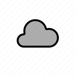 cloud, clouds, cloudy, cold, dark, forecast, grey cloud, light, snow, weather, winter icon