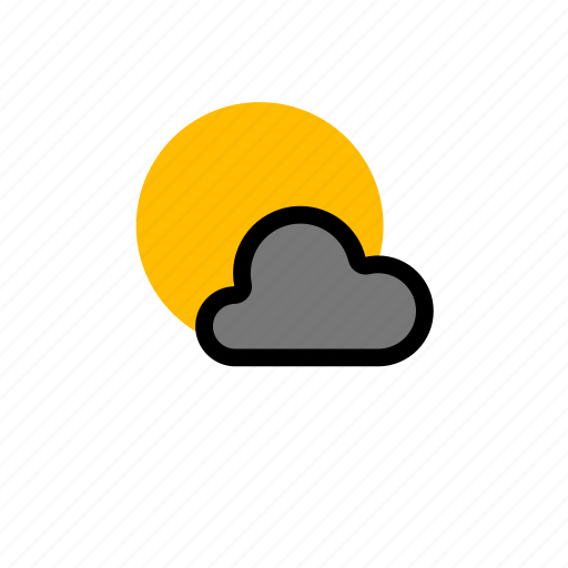 cloud, clouds, cloudy, forecast, heavy, showers, snow, sun, sunny, weather, winter icon