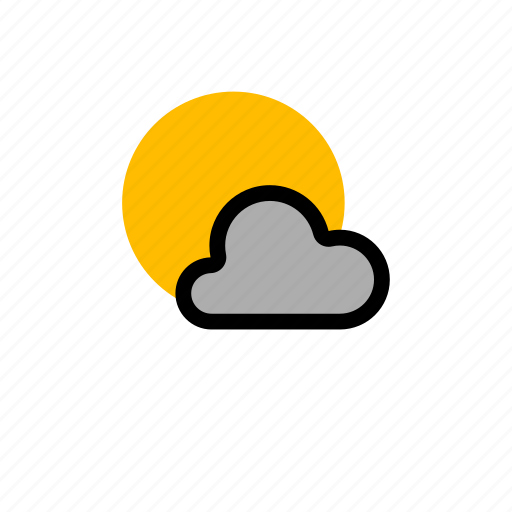 cloud, clouds, cloudy, forecast, grey cloud, light, showers, snow, sun, weather, winter icon