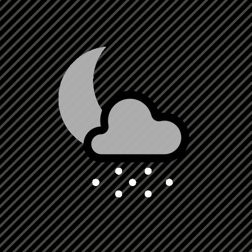 light, night, showers, snow icon
