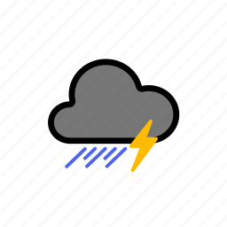 cloud, cold, dark, dark cloud, forecast, lighning, rain, rainy, storm, stormy, thunder, thunderstorm, thunderstorms, weather icon