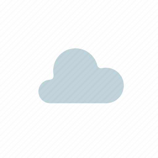 cloud, day, forecast, normal cloud, weather, white, white cloud icon