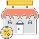 ins, store, promotions, shopping, ecommerce, shop, flat shopping icon