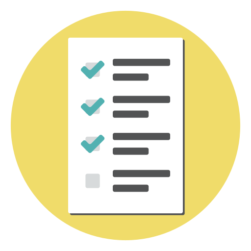 checklist, document, exam, form, report, test icon