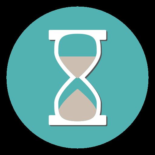 clock, deadline, hourglass, timer, wait icon