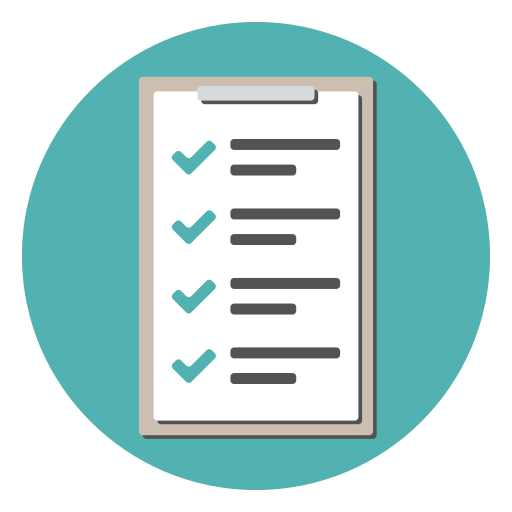 checklist checkmark clipboard document list tracklist icon