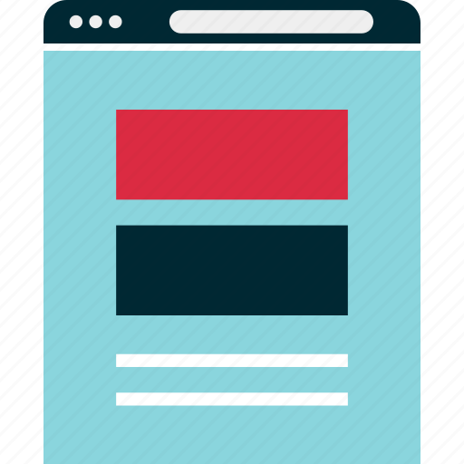 banners, blog, browser, mockup, post, website, wireframe icon