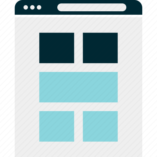browser, gallery, mockup, page, view, website, wireframe icon