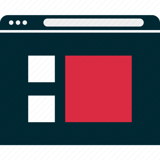 browser, layout, mockup, page, web, website, wireframe icon