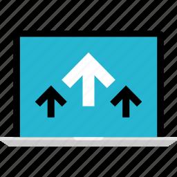 arrows, internet, online, up, web icon