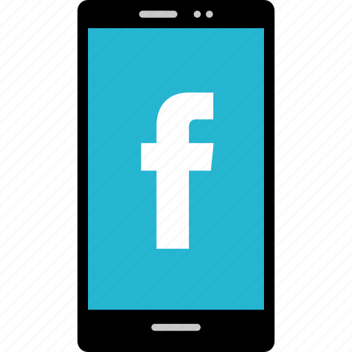 cell, facebook, internet, online, phone, web icon