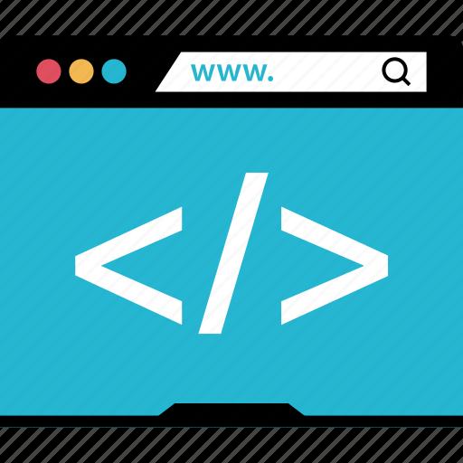 code, coding, internet, online, web icon