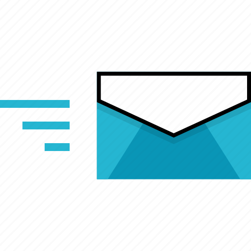 delivery, email, fast icon