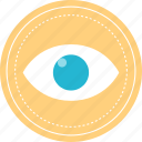 eye, views, watch, youtube icon