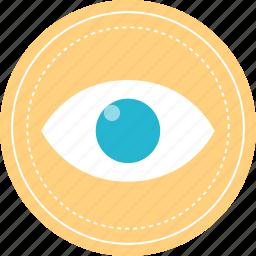 eye, views, watch, youtube icon