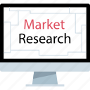 market, online, pc, research icon