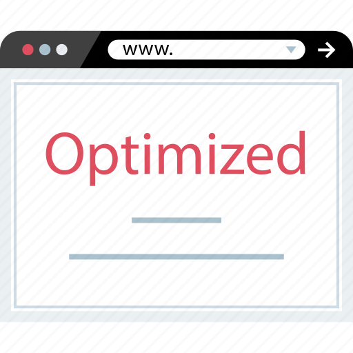 browser, optimized, web, www icon