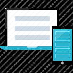 design, mobile, responsive, web icon
