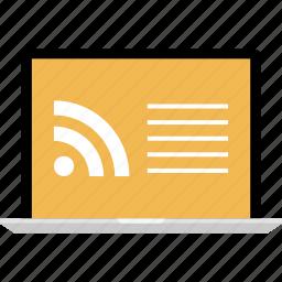 feedback, internet, online, rss, web icon