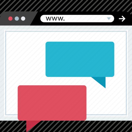 marketing, seo, talk, web icon