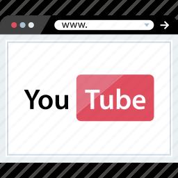 marketing, online, web, youtube icon