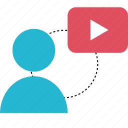 player, user, video, youtube icon
