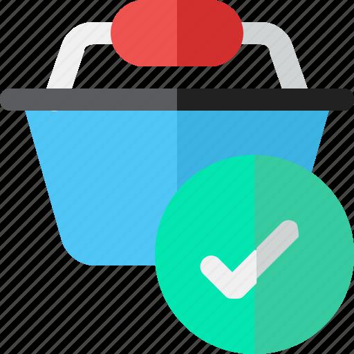 basket, buy, check, shopping icon