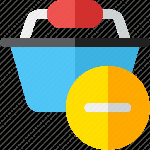 basket, buy, minus, shopping icon