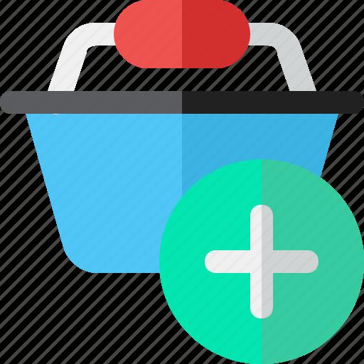 basket, buy, plus, shopping icon