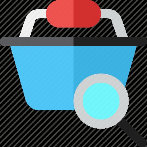 basket, buy, search, shopping icon