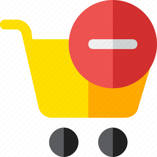 buy, cart, minus, shopping, trolley icon
