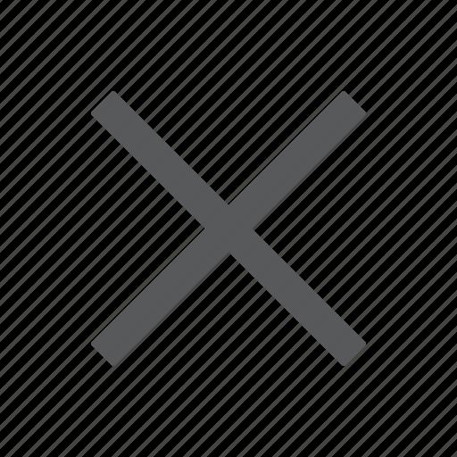cancel, close, cross, delete, reject, remove icon