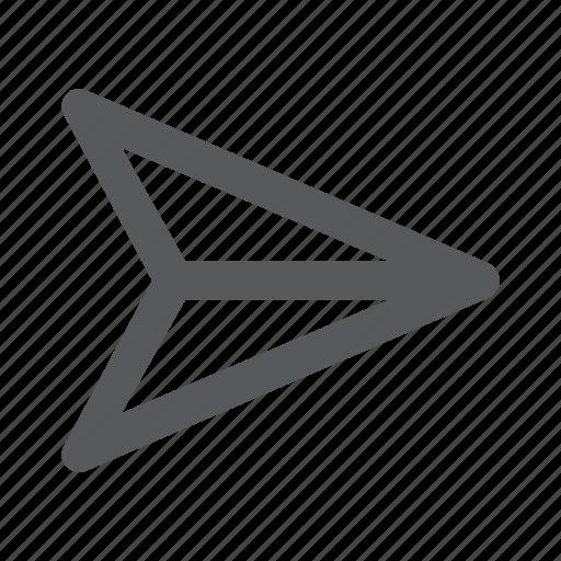 deliver, fly, gps, location, paper, plane, send icon