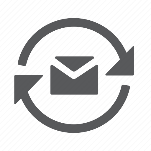 email, mail, message, refresh, reload icon