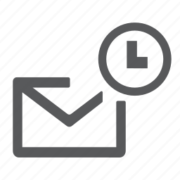 email, envelope, letter, mail, message, schedule, time icon