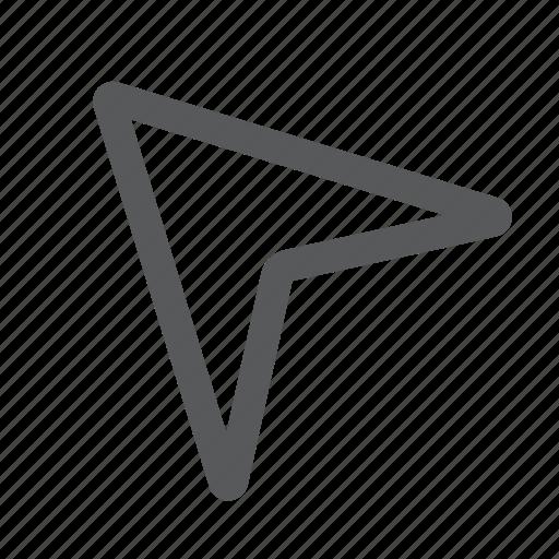 arrow, cursor, gps, location, pointer, position icon