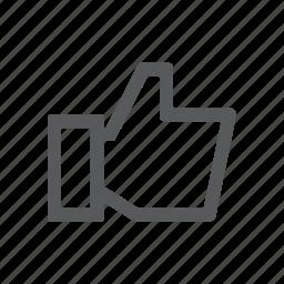 like, love, thumbs, up icon