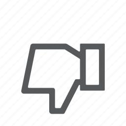 dislike, down, negative, thumbs icon