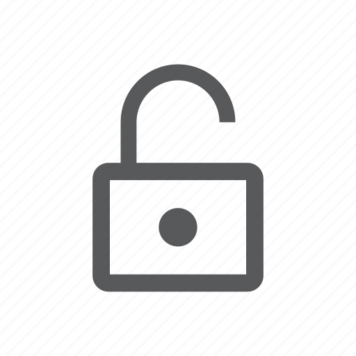 available, open, security, unlock, unprotected, unsafe, unsecure icon